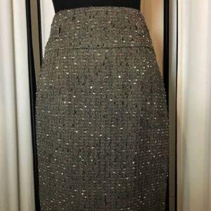 ETCETERA Confetti Tweed Pencil Skirt